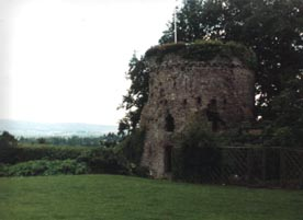 The Garrison Tower of Usk Castle Wales