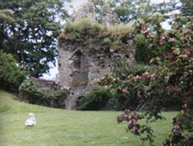 welsh castle usk